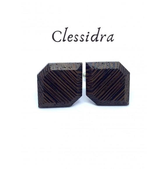 Drewniane spinki do mankietów Clessidra