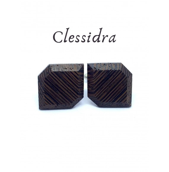 Wooden cufflinks Clessidra