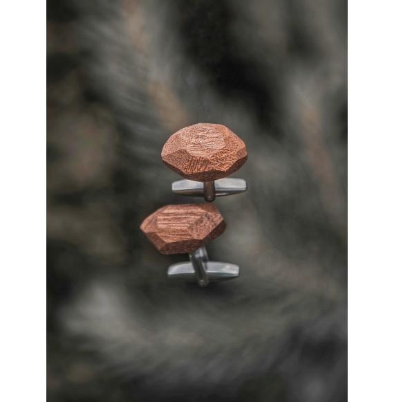Unikalne drewniane spinki do mankietów