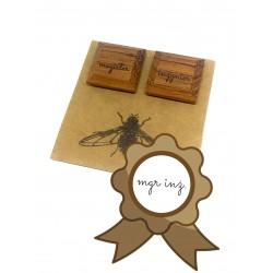 Wooden cufflinks MAGISTER INŻYNIER