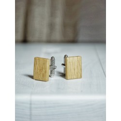 Drewniane spinki do mankietów Classy Oak