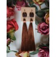 Brown fringes earrings