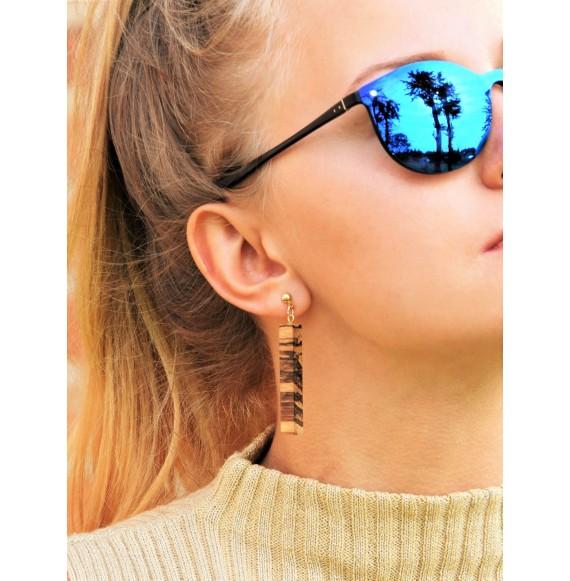 ZEBRAWOOD hanging earrings