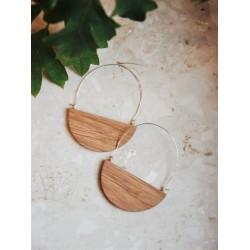 Minimalistyczne drewniane kolczyki