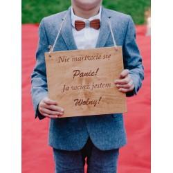 Drewniana tabliczka dla dzieci
